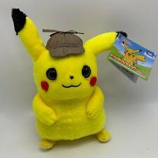 """Pokemon Detective Pikachu Plush Soft Toy Doll Teddy 10"""""""