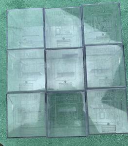 9 X MAXELL LARGE MINIDISC MD STORAGE BOXES CUBES - 9 X 10 Capacity VGC
