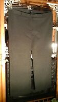 LANDS' END NWOT CHARCOAL CAREER PANTS VISCOSE STRETCH KNIT BLEND TALL 26W 3X