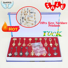 Anime Fairy Tail Lucy Set of 18Pcs Keys Necklace Pendants Keychain Necklace Gift