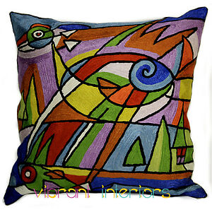Cubism Bird Picasso Throw Pillow Contemporary Colour Modern Art Abstract Cushion