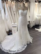 Lace Mermaid & Trumpet Strapless Plus Size Wedding Dresses