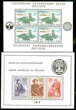 Edw1949Sell : Belgium 1958-63 Scott #B605a, 662a Both Very Fine, Mint Nh.
