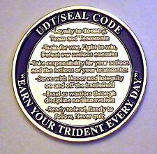 Challenge Coin - Navy SEAL Code - NSWG-1 - TRADET-1 - UDT SEAL Code