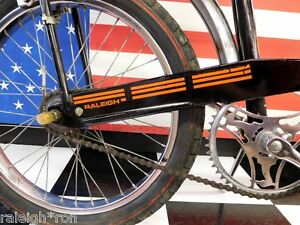 Sticker - Orange Raleigh Chopper CHAINGUARD DECAL for Banana Muscle Bike Bicycle