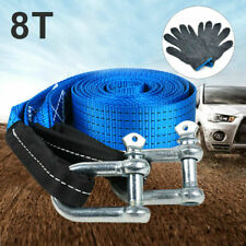 Heavy duty Car Tow Rope 2 yr Warranty 8 Ton Load 5m -+ carry bag+Pair of Gloves