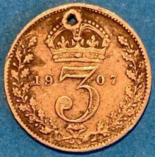1907 Great Britain GB UK England 6 Pence 0.9250 Silver Coin