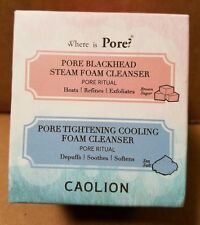 Caolion Hot & Cool Pore Foam Cleanser Duo, Hot 20g + Cool 30g