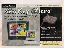 AVermedia AVerKey iMicro PC/Mac to TV Video Display Conversion Used