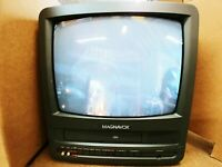 """PHILLIPS Magnavox 13"""" TV/VCR Combo Television Model: CCT132AT02. Works"""