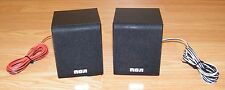 """Set of 2 Genuine RCA (RDT3131) Raw Wire 4"""" Front & Rear Speakers Only **READ**"""