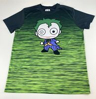 Batman Joker Men's Short Sleeve Polyster Graphic Tee T-Shirt Size XL EUC