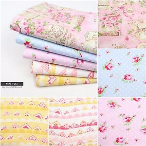 Shabby Chic Designers 100% Cotton Collection Quilting Craft FQ Bundle FQ52