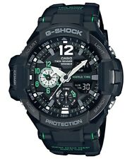 Casio G-Shock Gravitymaster Analogue/Digital Black/Green Mens Watch GA1100-1A3 G