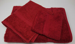 NEW Ralph Lauren Chili Pepper Red Bath Hand Towel 100% Cotton Made in USA