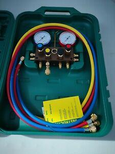 Manifold Daikin 4-Port Mechanical Air Conditioning Gauges Brand New