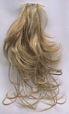 STRAIGHT BRAIDED BRAIDS HAIR FOX-TAIL BENDABLE WIRE HAIRPIECE HAIRDO W/COMB 1670