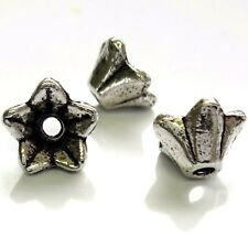 40 Tibetan Silver 9x5mm Flower Beads Findings