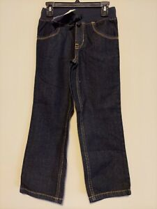 Gymboree Boys Navy Blue Pull on Ribbed Waist Jeans Size 6/7