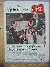 Rare Orig VTG 1931 Coca Cola Eastern Air Camel Cigarettes Advertising Art Print