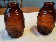 Two BARREL of BEER Vintage 1974 Bottle Brown Glass