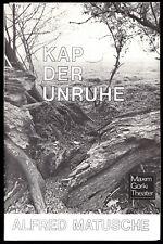 Theaterprogramm, Maxim Gorki Theater, Alfred Matusche, Kap der Unruhe, 1984