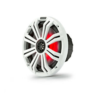 """Kicker Marine 8"""" (200 mm) Coaxial Speaker System with White&Charcoal LED (Pair)"""