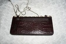 Brighton Cream/Brown Leather Oxford Wallet w/ Chain - NWT $119