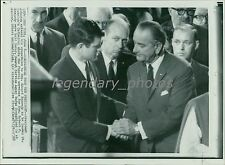 1968 Ted Kennedy Condolences from President Original New Service Photo