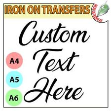 Custom Iron On T Shirt Transfer Any Text Your Name Hen Stag Party Personalised