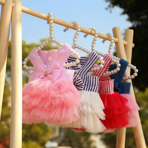 Dog Dress Pet Cat Chihuahua Wedding Tulle Dress Puppy Clothes for Small Dogs New