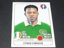 CHRISTIE DERBY COUNTY IRELAND EIRE EXTRA STICKER PANINI FOOTBALL UEFA EURO 2016