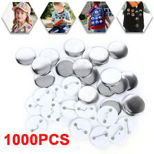 1000X Blank Pin Badge Button Parts Pvc Supplies for Button Press Making Machine