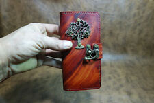 leather iPhone 6 plus case,tree of life iPhone 6 plus cover,iPhone case