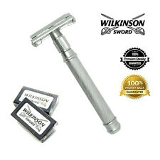 Wilkinson Stainless Steel Double Edge Safety Razor + Free wilkinson Blades