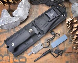 Elk Ridge BUSHCRAFT Outdoormesser Schwarz mit Zubehör ER-555BK