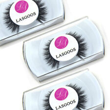 3 * 100% Mink Medium Cross False Eyelashes Non-magnetic Eye Make-up Lashes #008