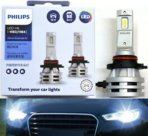 Philips Ultinon LED G2 6500K White 9006 HB4 Two Bulbs Head Light Lo Beam Upgrade