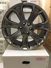 4 NEW 2015 GMC Wheels 22x9 Hyper Silver OE Yukon Sierra Silverado Denali  Tahoe