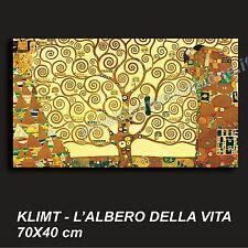 QUADRO MODERNO TELA 70X40 GUSTAV KLIMT L'ALBERO DELLA VITA ARTE