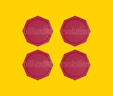 "Set of 4 Air Hockey Pucks - Red Octagon Pucks 2-1/2"" - 63mm Table Hockey Pucks"