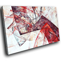 ZAB883 Red Black White Cool Modern Canvas Abstract Home Wall Art Picture Prints