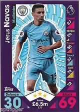 2016 / 2017 EPL Match Attax Base Card (177) Jesue NAVAS Manchester City