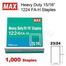 """MAX Heavy Duty Stapler 15/16"""" Staples 1224 FA-H (23/24) - 1,000 staples"""
