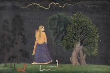 Peinture Nainsukh famille (attr.) héroïne se précipiter pour amant Poster print LLF0374