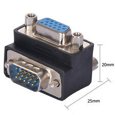 90 Degree Right Angle 15 Pin VGA SVGA Male to Female Converter Angle Adapter a