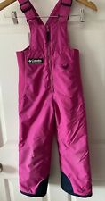 Girls Columbia Snowpants Bib Pink Size 4 5 Snow Boarding Overalls Extra Small