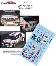 DECALS 1/24 REF  1543 Lancia Delta Integrale Saby Grataloup Monte Carlo 1991