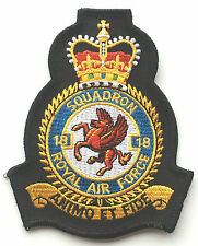 No.18 Squadron Royal Air Force Embroidered Crest Badge Patch Official Crest