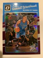 RUSSELL WESTBROOK 2016-17 Donruss Optic Purple Refractor SP Parallel Thunder